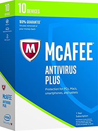McAfee 2017 AntiVirus Plus-10 Devices [Key code] (10-Users)