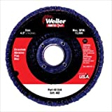 "Weiler 31345 Flap Disc 60 Grit 4-1/2"" Ty 29 (10 Pack)"