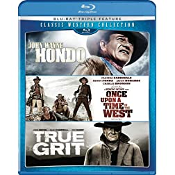 Classic Western Collection (Hondo/Once Upon a Time in the West/True Grit) [Blu-ray]