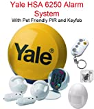 Yale HSA 6250 Family Home Alarm System With 1 Pet-friendly PIR & Keyfob