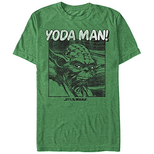 Star Wars Yoda Man! Heather Kelly Green T Shirt Mens