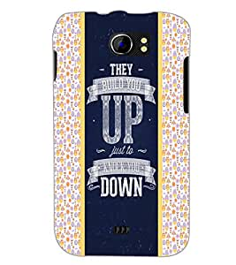 PrintDhaba Quote D-4821 Back Case Cover for MICROMAX A110Q CANVAS 2 PLUS (Multi-Coloured)