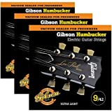 Gibson Special Alloy Humbucker Ultra Light Electric Guitar Strings - 3 Pack