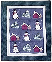 Patch Magic 50-Inch by 60-Inch Snowman Throw