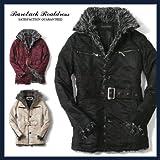 《冬物最終BAREBACK REAL DRESS ベアバック リアルドレス》メンズ オーロラスウェード フェイクファー ハーフコート メンズ ジャケット「133-7003」