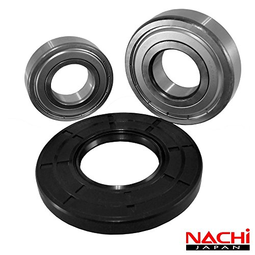 Nachi Front Load Kenmore Washer Tub Bearing and Seal Kit Fits Tub 131525500 (5 year replacement warranty and full HD