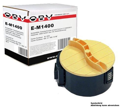 Kompatibler Toner für Epson Aculaser M 1400 / M1400 / MX 14 / MX 14 NF ersetzt Epson C13S050651 / 0651 , Kapazität 2000 Seiten, schwarz
