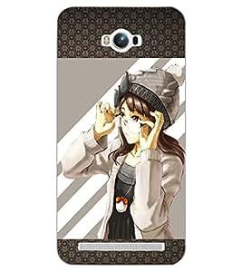 PrintDhaba ANIMO GIRL D-6311 Back Case Cover for ASUS ZENFONE MAX ZC550KL (2016) (Multi-Coloured)