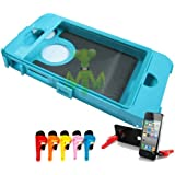 Tahitian Teal Hard Inside Shell Inner Compatible Fits For Otterbox Defender Series iPhone 4 4S 4G + Wrench Style Stand Holder (Random Color)
