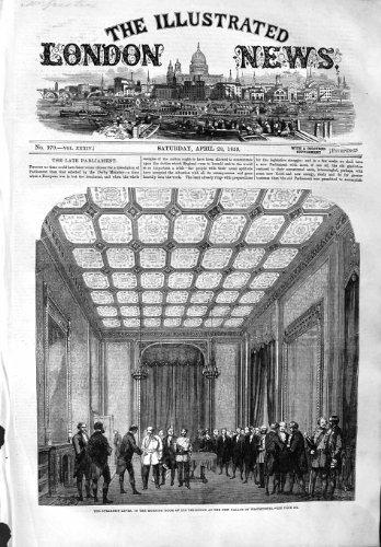 1859 SPEAKERS LEVEE MORNING ROOM WESTMINSTER PALACE