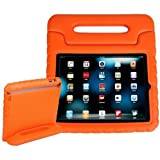 Carry Handle iPad Mini Case, iCrown(TM) Stand Holder Foam Shock Proof for Kids Bumper Protector Defender Case, Compatibale for iPad Mini&iPad Mini with Retina Display, Orange