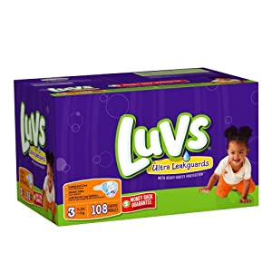 Luvs Diapers with Ultra Leakguards Big Pack Size 3 Diapers, 108 Count