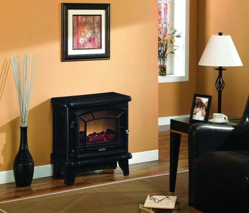 Black Electric Stove Classic Flame DFS-550-21-BLK image B009C16BGA.jpg