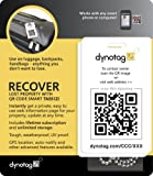 Dynotag® Web/GPS ready to use QR Smart Fashion Luggage Tags - 2 Identical Tags+Chains (Original White)