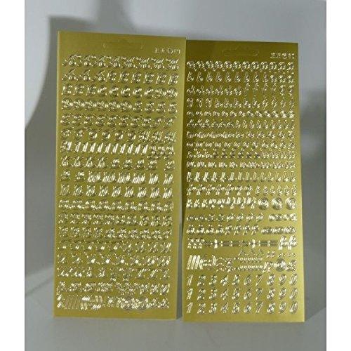 sticker buchstaben set gold gro und kleinbuchstaben. Black Bedroom Furniture Sets. Home Design Ideas