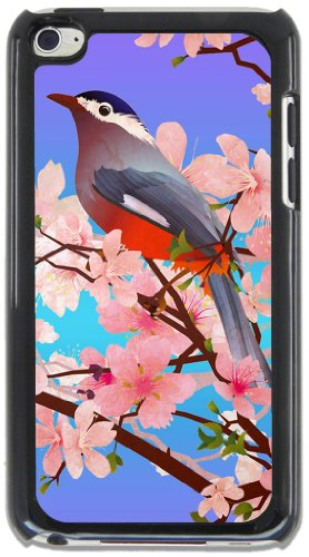Bird Perch Black Case for Apple iPod Touch 4