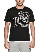 Lonsdale Camiseta Manga Corta Langsett (Negro)
