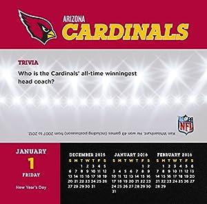 Turner Arizona Cardinals 2016 Box Calendar, January-December (8051428)