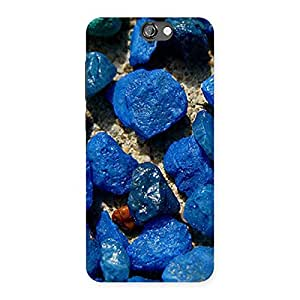 Ajay Enterprises Fill Blue Rocks Back Case Cover for HTC One A9