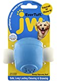 JW Pet 46126 EverTuff Boney Squeaky Ball Toys for Pets, Medium, Assorted Colors White with Orange or Blue