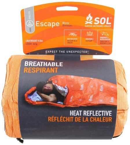 Adventure Medical Kits Survive Outdoors Longer Escape, Bivvy Breathable Blanket The Proprietary Fabric Lets Moisture Escape At The Same Time That It Keeps Rain, Snow, And Wind On The Outside The High Visibility Orange Exterior Makes It Easy For Rescuers T