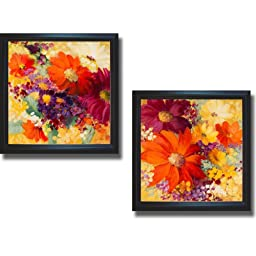 Love & Light I and II by Lanie Loreth 2-pc Premium Black-Framed Canvas Set (Ready to Hang)