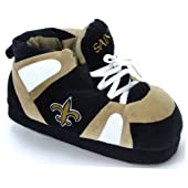 Comfy Feet NFL Sneaker Boot Slippers - New Orleans Saints