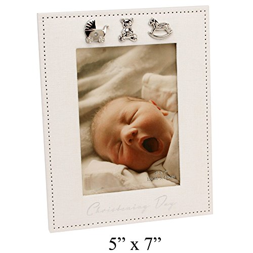Special Christening Day Material Photo Frame By Haysom Interiors