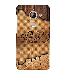 Love Quote 3D Hard Polycarbonate Designer Back Case Cover for LeEco Le Max 2 :: Letv Le Max 2