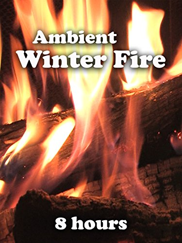 Ambient Winter Fireplace (8 hours)