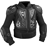 Fox Racing Titan Sport Jacket Youth Boys Roost Deflector MotoX/Off-Road/Dirt Bike Motorcycle Body Armor - Black / One Size
