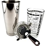 KegWorks 3-Piece Cocktail Shaker Kit