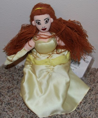 "Retired Disney Beauty and the Beast Princess Belle 10"" Plush Bean Bag Doll MINT"