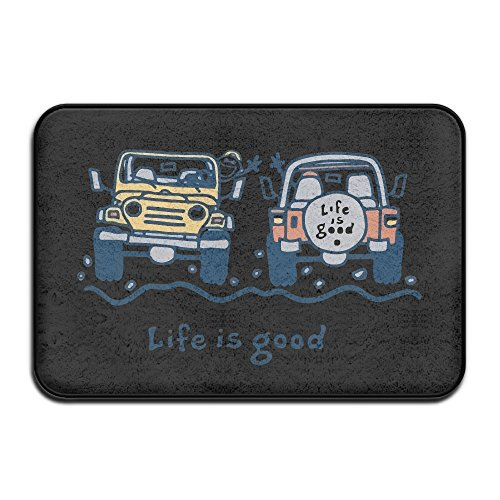 Life Is Good Jeep Dog Mat and Door Mat