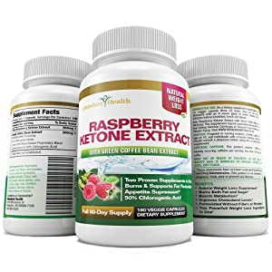 RASPBERRY KETONES with GREEN COFFEE BEAN EXTRACT 180 Capsules for a FULL 60 DAY SUPPLY