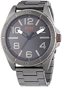 BOSS Orange Herren-Armbanduhr XL Berlin Analog Quarz Edelstahl beschichtet 1512999