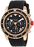 red line Men's RL-50034-RG-01 Piston Chronograph Black Dial Watch