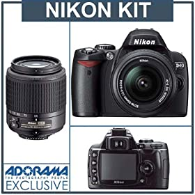 51Kmtt Pa0L. SL500 AA280  Nikon D40 6.1MP Digital SLR Camera with 18 55mm f/3.5 5.6G ED II AF S DX and 55 200mm f/4.5 5.6G ED AF S DX Zoom Nikkor Lens   $525 Shipped
