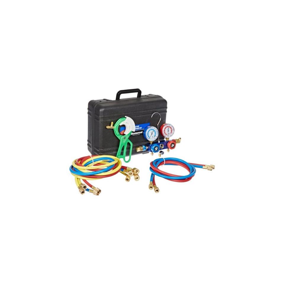 Mastercool (MAS98660) Dual R 134A/R12 Aluminum Manifold Gauge Set Automotive Air Conditioning Diagnostic Gauges
