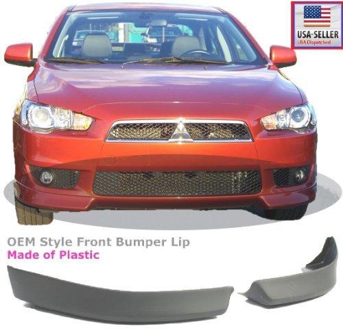 08-12 Mitsubishi Lancer Front Bumper Air Dam Lip Spoiler Body Kit Plastic Primer 2008 2009 2010 2011 2012 (Body Kit Mitsubishi Lancer compare prices)