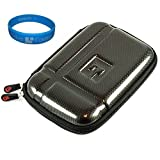 Gun Metal Durable 5.2-inch Protective GPS Carrying Case with Removable Carbineer for Garmin nvi 1490 / 1490T / 1490LMT / 1450 / 1450T / 1450LMT / 2460 / 2460LT / 2460LMT / 2450 / 2450LM / 2555LT / 2555LMT / 2595LMT / 560LT/ 560LMT Tom TomTom XXL 540 / 540S / 540M / 540T/ 540TM / Magellan Mestro 5310 5045 Lm Magellan Roadmate Motorola Montonav 540T / 5-Inch GPS Navigator + SumacLife TM Wisdom Courage Wristband