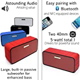 Xoundstar® Smart Wireless Bluetooth Speaker Portable High-Fidelity Stereo Speaker with Wireless SIRI Connectivity built-in passive subwoofer with two 40mm 5-watt drivers 1800 Mah 10 hours Battery for iPhone 4/5/5s/5ciPad.Samsung Galaxy 4/5 and All Other Android Bluetooth Devices