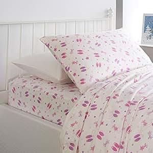 nate nat 3pc ballerina twin sheet set 100 cotton flannel ballet shoes stars bows. Black Bedroom Furniture Sets. Home Design Ideas