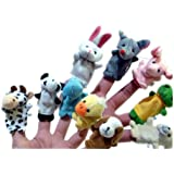 Zoo Animal Hand Sock Glove Finger Puppets Sack Plush Toy