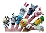 Leegoal 10 x Finger Puppets. Animal shape. 10 styles per set