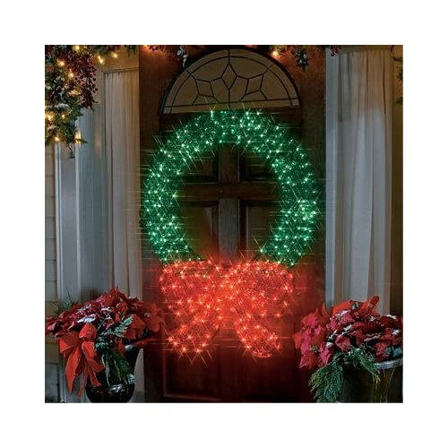 48 lighted crystal 3 d outdoor christmas for 48 lighted crystal 3 d outdoor christmas wreath decoration