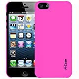 Airplus Aircase Glossy Finish Back Case with Screen Protector for Apple iPhone 5/5S (Hot Pink)