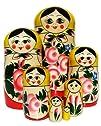 GreatRussianGifts Babushka Semenov nesting doll 7-pc Yellow Top