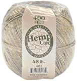 Darice 400-Feet Hemp Cord, 48-Pound, Natural