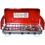 Basecamp by Mr. Heater Deluxe Three Burner Stove (Red)